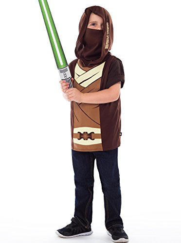 Little Adventures Galactic Star Warrior Hooded Vest Costume & Accessory Sets for Boys - L/XL (5-7 (Jedi Warrior Costumes)