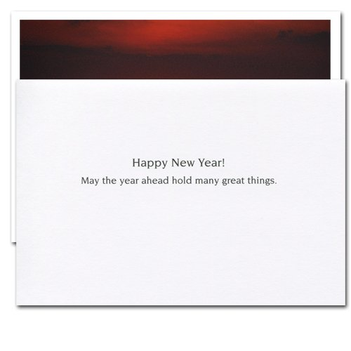 Great Things: New Year Holiday Cards - box of 10 cards & envelopes Photo #2
