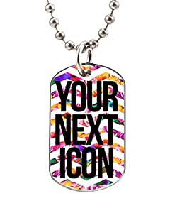 YOUR NEXT ICON FLOWERY STATEMENTS Customized Dog Tag Pet Tags dogtag Necklace Charm Unique Gift