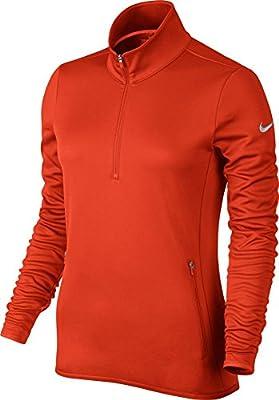 Nike Golf Women's Thermal 1/2 Zip Pullover (Team Orange/Wolf Grey) M