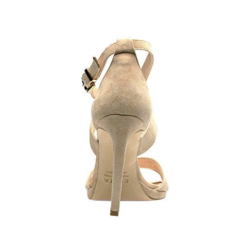 Evita Shoes Carmen Damen Sandalette Rauleder Nude