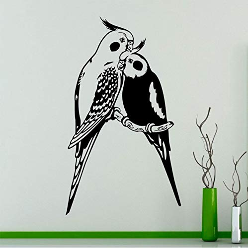 hwhz 33 X 57 cm Wall Art Decal Couples Parrots Exotic Birds Vinyl Sticker Home Interior Wall Art Decor Ideas Room -