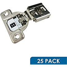 "Salice 106 Degree CU Silentia E-Centra 1/2"" Overlay Screw On Soft Close Cabinet Hinge With 2 Cam Adjustment CUP37D9 (25 Pack)"