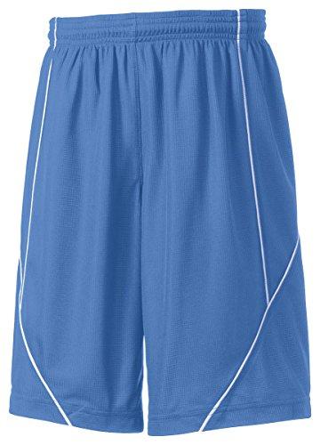 Reversible Boys Shorts - Sport-Tek Boys' PosiCharge Mesh Reversible Spliced Short M Carolina Blue