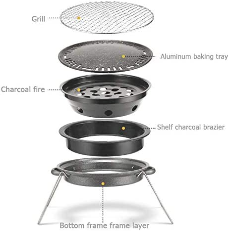 SHR-GCHAO Pliable Barbecue Grill, Grill Charcoal BBQ Portable avec Sac De Rangement, Barbecue Grill Table De Pique-Nique pour Le Camping en Plein Air Party