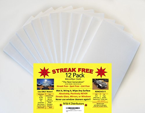 "Streak Free Microfiber Cloth ""As Seen on TV"" 12 Pack (12)"