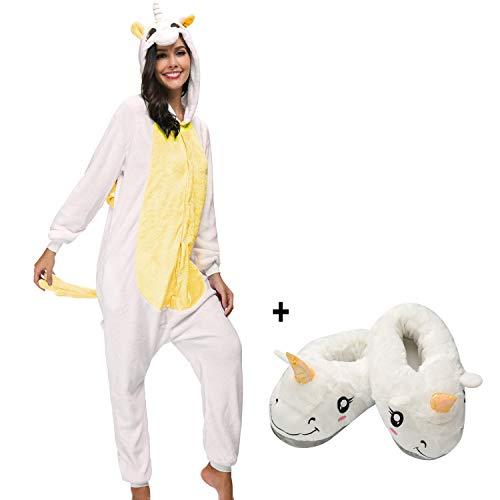 Tuta Unisex Cosplay Intero Party Costume Pigiama Halloween Festa Giallo Pantofole Attrezzatura Carnevale Animale Mescara Sleepwear E fqt5xE8wFw