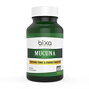 Gut Health Shop 41FGULIhlcL._SS300_ Mucuna Pruriens Extract Capsules (Kapikacchu/Velvet Bean/Kaunch Beej) ǀ 60 Veg Capsules (450mg)