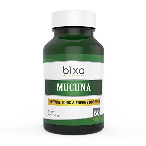 Mucuna Pruriens L-Dopa Extract Capsules (Kapikacchu / Velvet bean / Kaunch Beej) | Natural Nervine Tonic & Mood Enhancement Supplement ǀ For Libido and Energy Booster – 60 Veg Capsules (450mg) (Nervine Tonic)