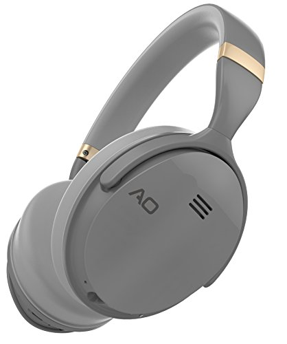 AO Active Noise Cancelling Headphones Wireless Bluetooth Headphones Over-Ear - M5 (Gray)