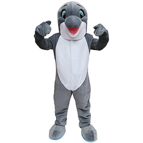 CostumeShine Happy Dolphin Mascot Costume Adult Costume Fancy (Dolphin Mascot Costumes)