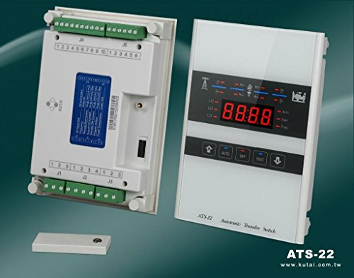 ATS-22 Universal Automatic Transfer Switch Control With Touchscreen Interface and Ethernet, Micro-Processor Based, AC Voltage Input 50-520VAC Frequency 50/60Hz Remote Start Contact 7A @ 250VAC ()