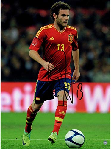 Juan Mata Signed Spain Team 12x16 Photo: In Action (Icons Auth & Third Party Holo) - Steiner Sports Certified
