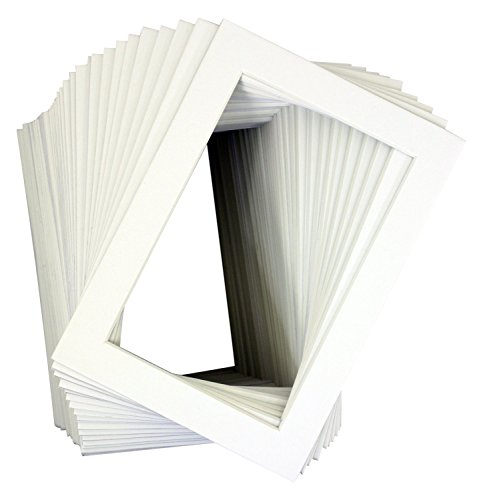 Pack of 50 White 16x20 Mats for 12x16 Photo + Backing + Bags