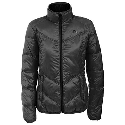 Trespass Womens/Ladies Nakina Lightweight Full Zip Padded Jacket Black