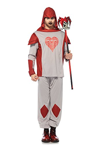 Leg Avenue Men's Card Guard Costume, Red, (Wonderland Card Guard Costumes)