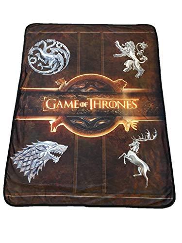 Rabbit Tanaka Game of Thrones Logo Soft Fleece Blanket - House Sigil Fleece Throw - Game of Thrones Family Crests 46