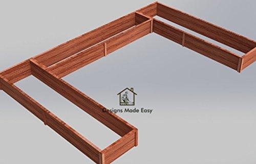 Easy DIY Raised Garden Bed Frame - Design Plans Instructions for Woodworking 04