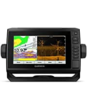 "Garmin ECHOMAP UHD 75Cv, 7"" Keyed-Assist Touchscreen Chartplotter with Canada LakeVü G3 and GT24UHD-TM Transducer"