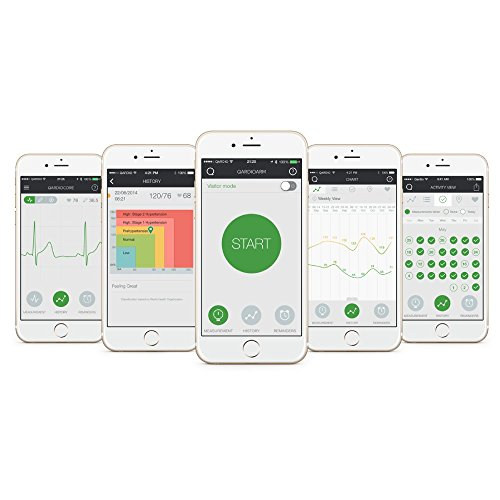 QardioArm Smart Blood Pressure Monitor Medically Accurate Wireless amp Compact Digital Upper Arm Cuff App for iOS Android Kindle Works with Siri Alexa Apple and Samsung Health FSAEligible
