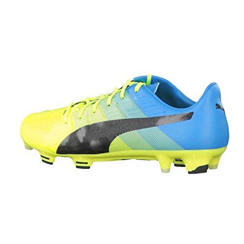 Puma Evopower 1.3 Fg - Botas de fútbol Hombre safety yellow-black-atomic blue 01