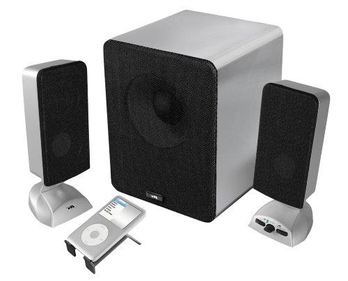 Cyber Acoustics 3 pc Brushed Aluminum Series Speakers CA-361