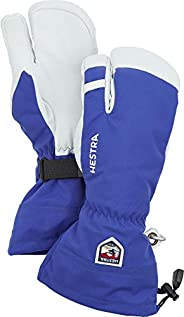 Hestra Women's Mens and Womes Ski Gloves: Army Leather 3-Finger Winter Mi