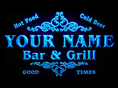 - ADVPRO u-tm-b Name Personalized Custom Family Bar & Grill Beer Home Bar LED Neon Sign Blue 24x16 inches