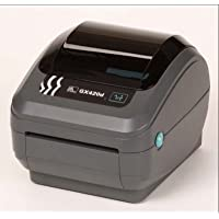 Zebra GX42-202710-000 GX420D Direct Thermal Printer, 203 DPI, Monochrome, 6 H x 6.75 W x 8.25 D, With Wi-Fi and LCD Display
