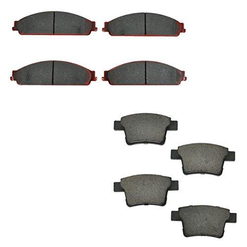 (Front Rear Ceramic Brake Pad Set for Taurus Sable Montego Five Hundred)