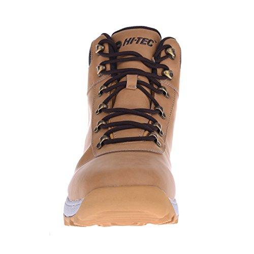 Hi-Tec Norri Mid WP Wasserdicht Braun Herren Stiefel Winterstiefel Winterschuhe Wanderstiefel Leder Boots Braun (Braun-Weiß)