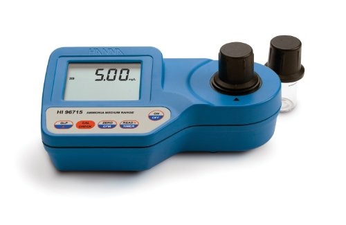 Hanna Instruments Waterproof Portable Medium Range Ammonia Photometer, 0.00 to 9.99 mg/L ()