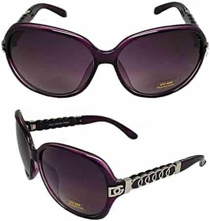 NEW Women DG Eyewear Rectangular Rhinestones Fashion Sunglasses 398 WHITE