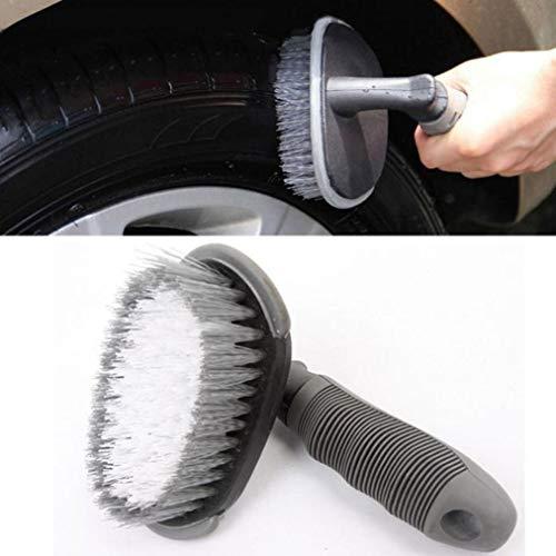 Car Vehicle Motorcycle Wheel Tire Rim Scrub Brush Washing Cl