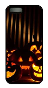 Best halloween pumpkins rubber iphone 5 cases PC Black for Apple iPhone 5/5S