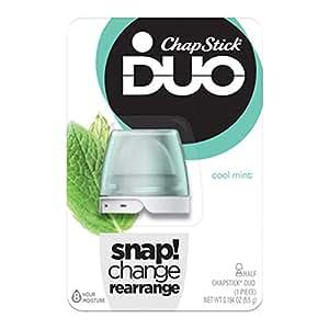 ChapStick DUO Half Lip Balm, 8 Hour Moisture, 0.194 Ounce (Cool Mint Flavor, 1 Blister Pack of 1 Piece)