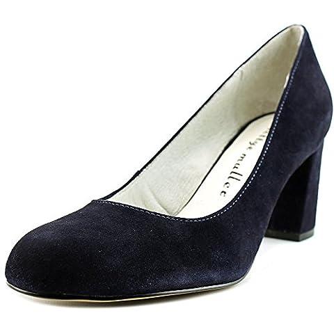 Bettye Muller Women's Colette Pump,Navy Suede,US 8.5 M - Blue Suede Pump Shoes