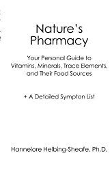 Nature's Pharmacy: Your Personal Guide to Vitamins, Minerals, Trace Elements, Their Food Sources + A Detailed Sympton List