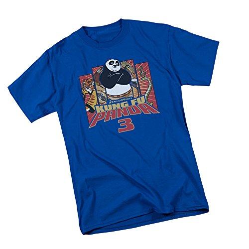 Kung Furry -- Kung Fu Panda 3 Adult T-Shirt, Large