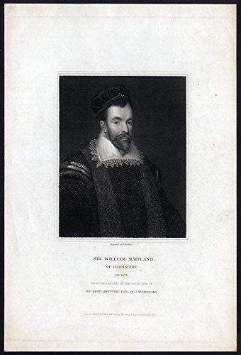 - Antique Print-WILLIAM MAITLAND OF LETHINGTON-SCOTLAND-PORTRAIT-Finden-1832