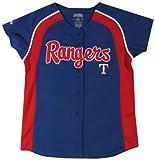MLB Girl's Colorblocked Raglan Button Down Jersey