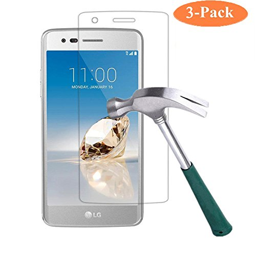 Price comparison product image LG LV3 / LG Aristo [Tempered Glass] Screen Protector [Not Full Coverage] - [3 Pack] GreenElec [0.3mm 9H Hardness 2.5D Ultra-Thin Anti-Scratch Anti-Bubble] with Lifetime Replacement Warranty