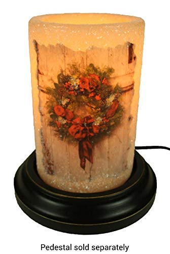 Vintage Print Christmas Wreath Candle Sleeve