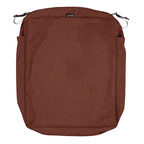Classic Accessories Montlake Patio Seat Cushion Slip Cover, Heather Henna, 25x27x5