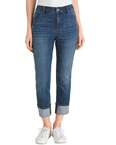 Chico's Women's So Slimming Girlfriend Crops Size 8 M (1) Denim