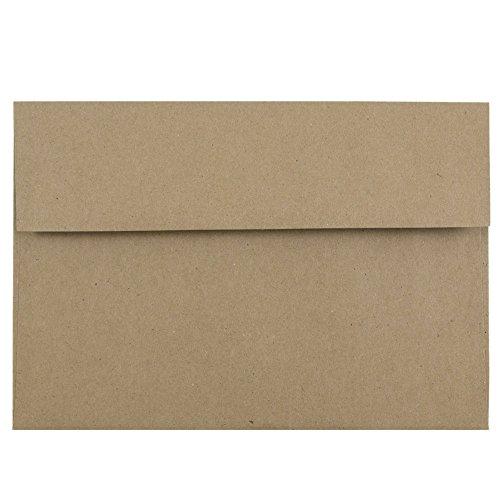 JAM PAPER A10 Premium Invitation Envelopes - 6 x 9 1/2 - Brown Kraft Paper Bag - 50/Pack