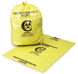 Medi-Pak SURE-SEAL Yellow Chemotherapy Linen Bags 40 X 46 Inch Printed - Case of 100