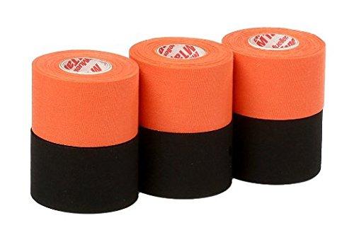 Mueller Athletic Tape Sports Tape, Orange and Black 6 rolls (Orange Tape Athletic)