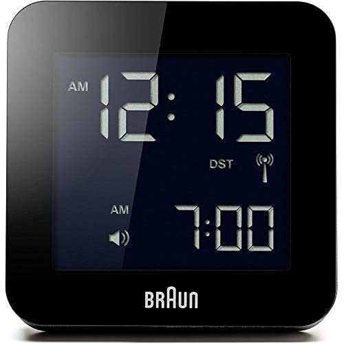 Braun BNC009BK-RC Digital Quartz Alarm Clock