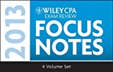 Wiley CPA Examination Review 2013 Focus Notes, Set